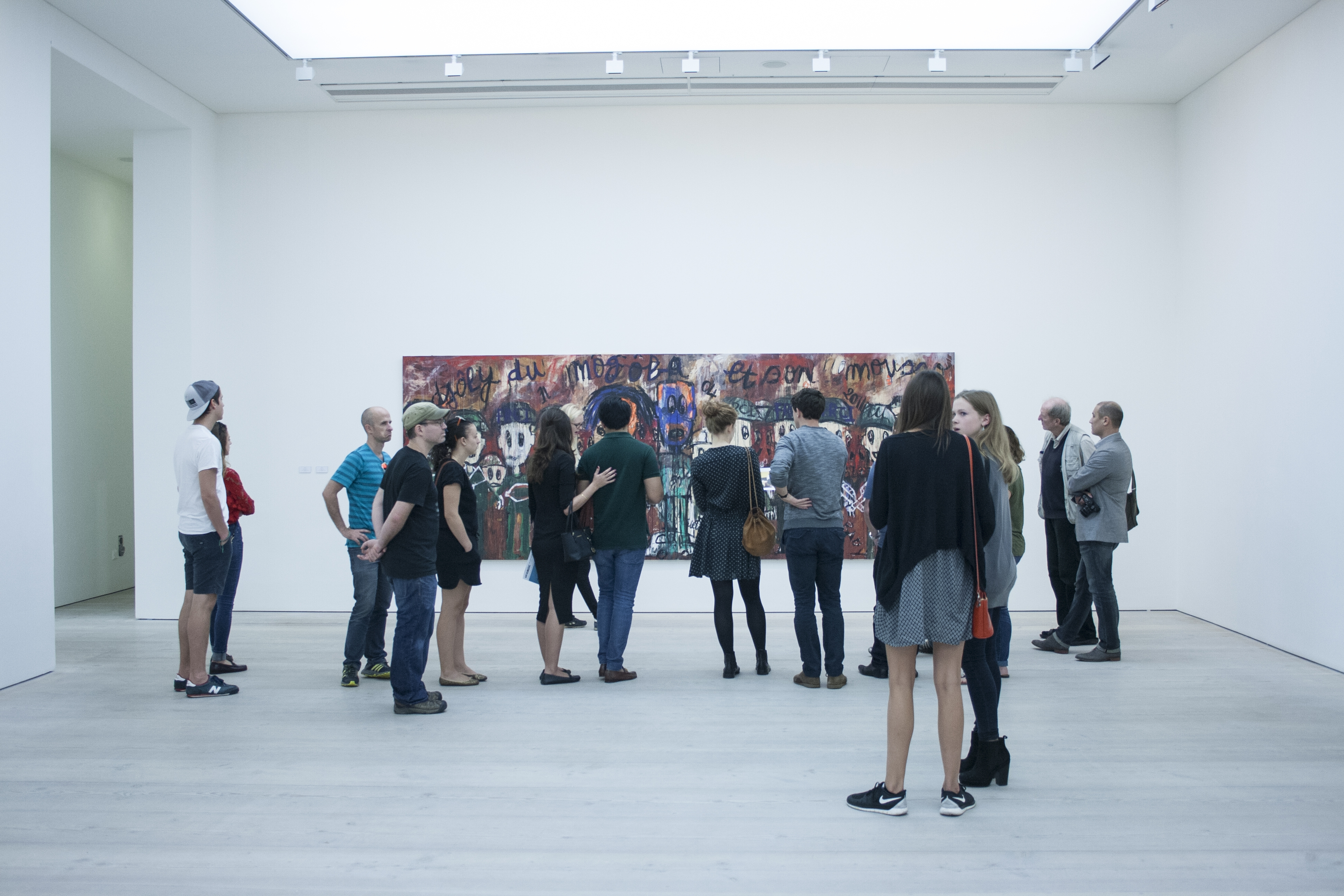 Photo of people in an art gallery