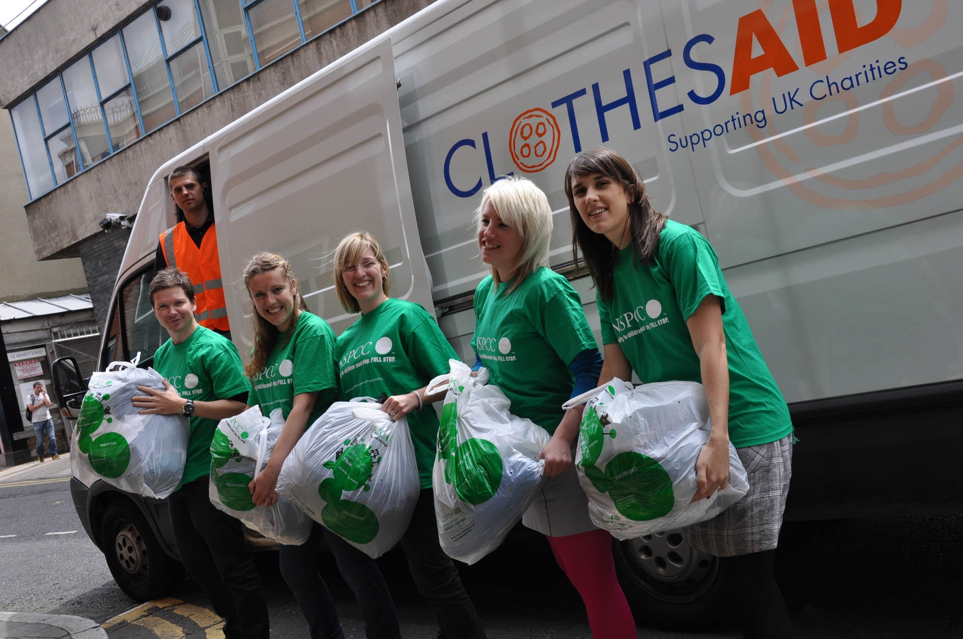 Collection for Clothes Aid by NSPCC