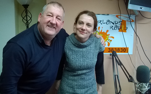 Dave Fuller Moorlands Radio DJ and Kathryn Bentham Locality Officer Support Staffordshire