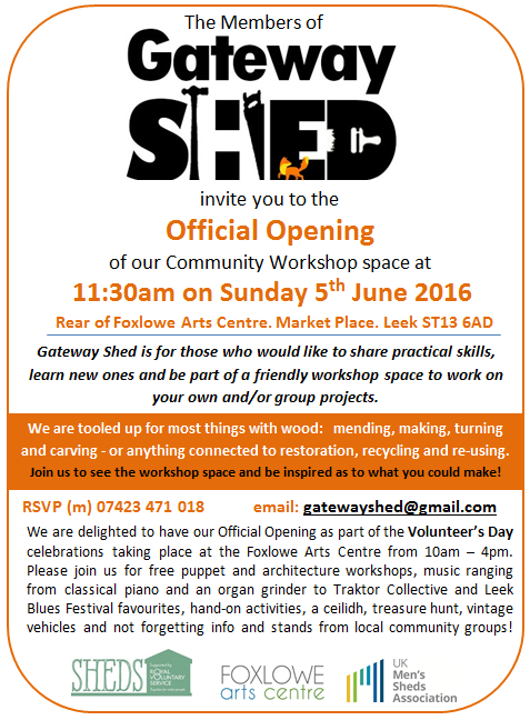 Gateway Shed Opening Invite