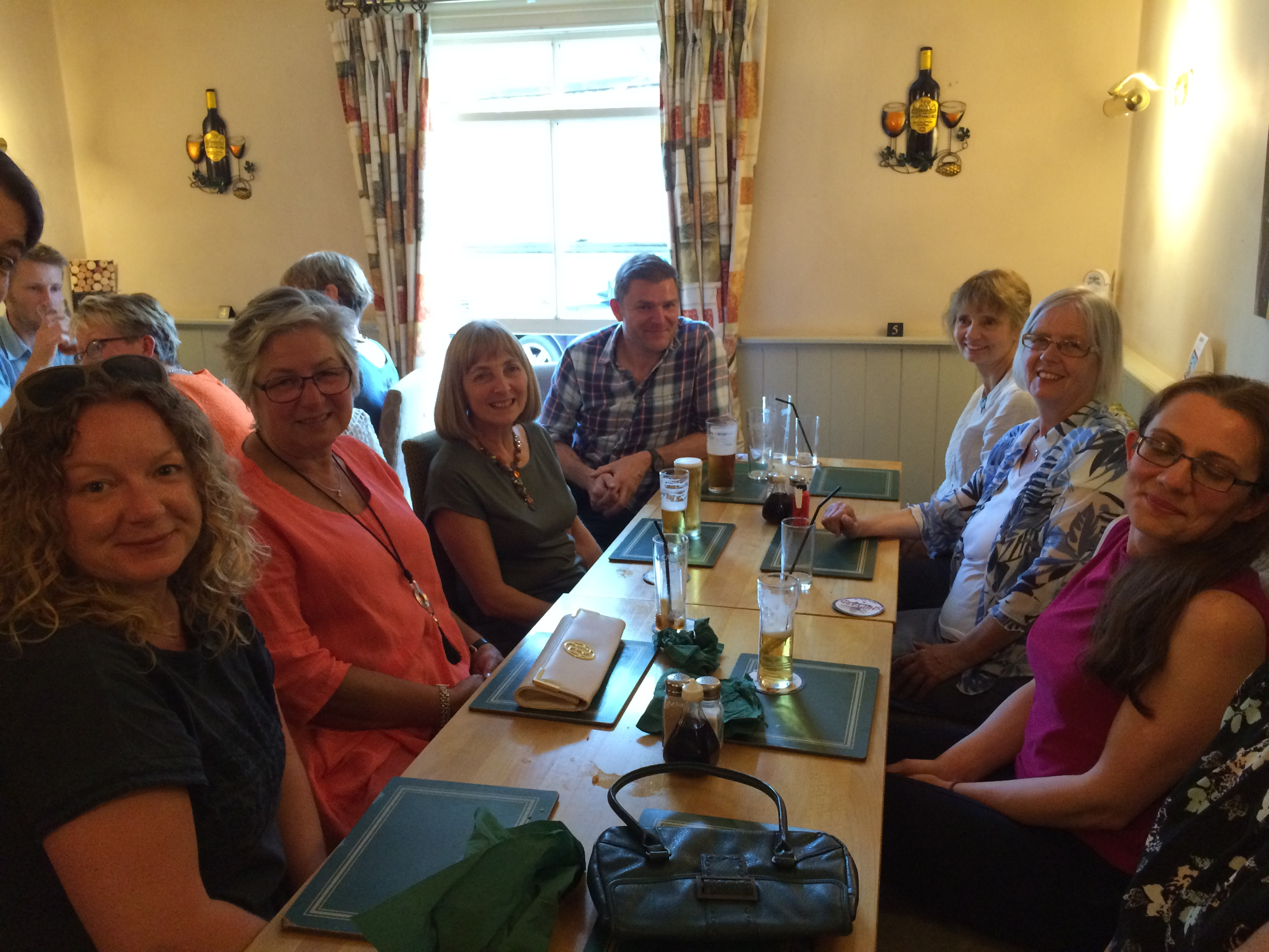 Photo of Helen Anderson with her colleagues at her leaving do