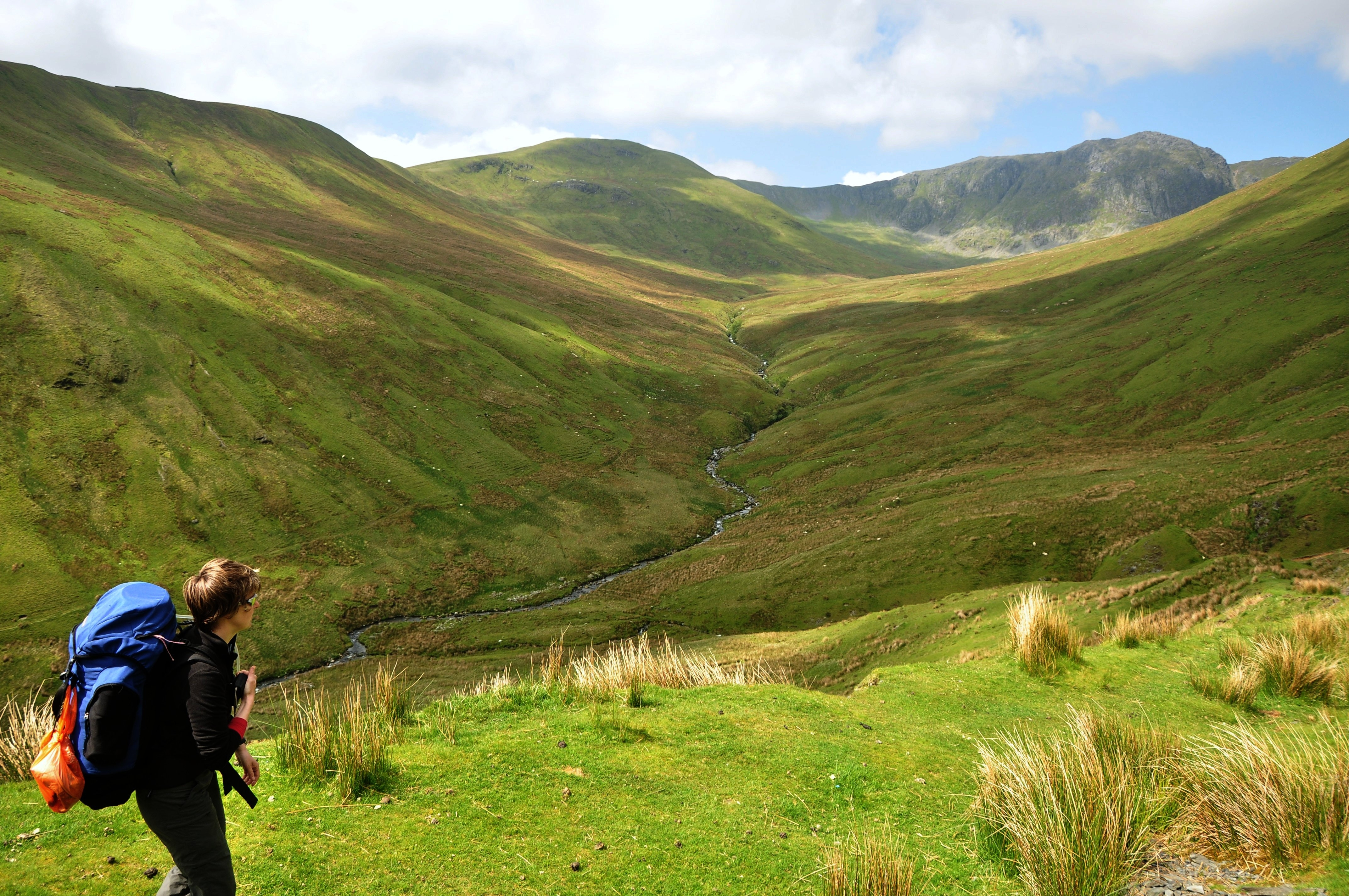 Photo of a hiker in the fells