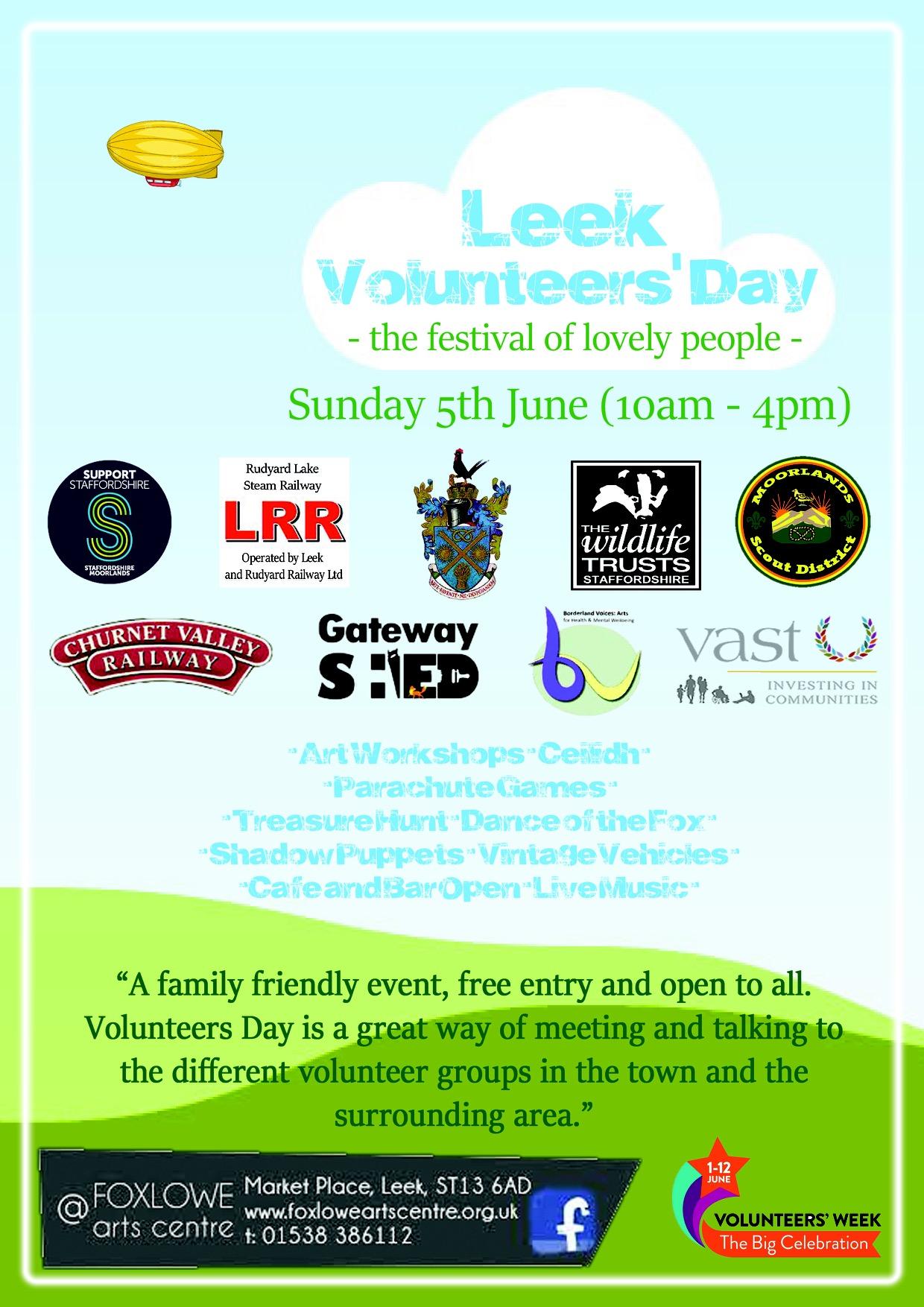 Leek Volunteers' Day Poster