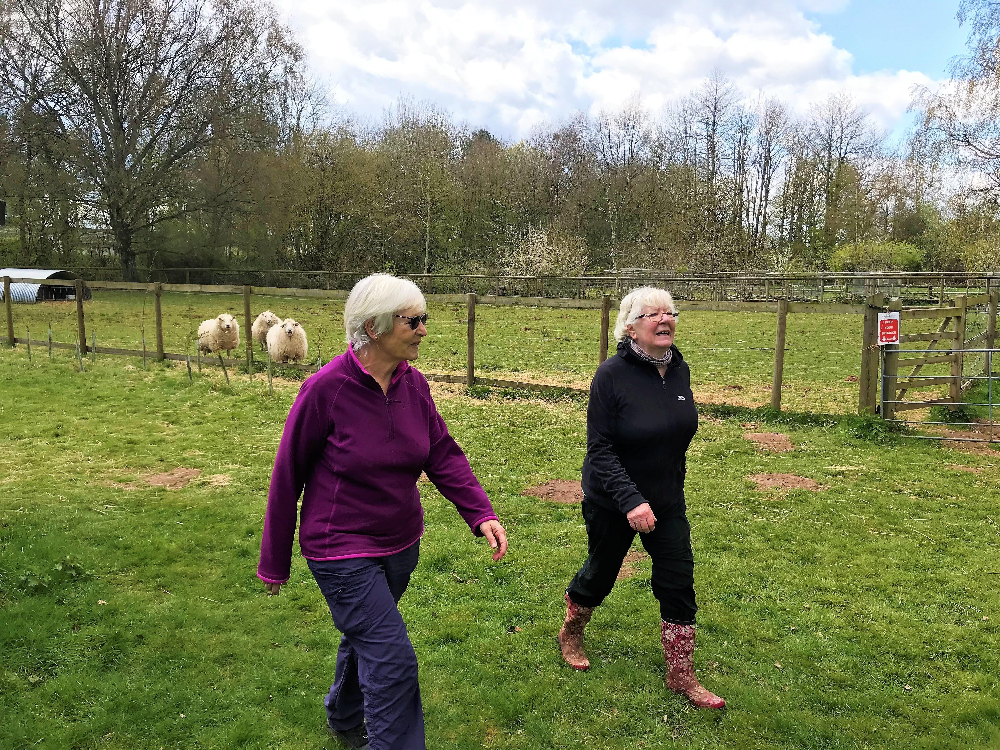 Mandy and Mo Walking