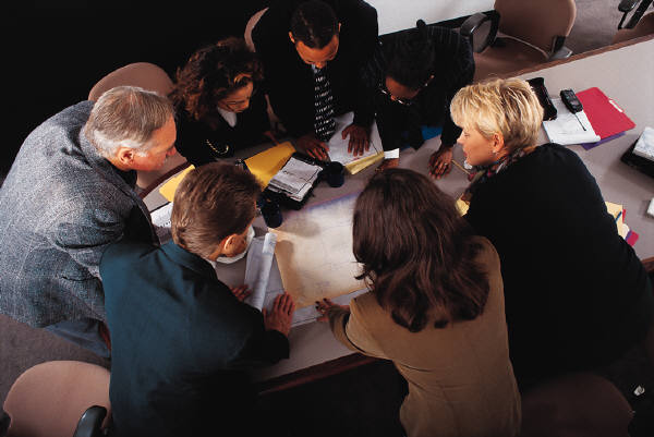 Photo of a round table discussion