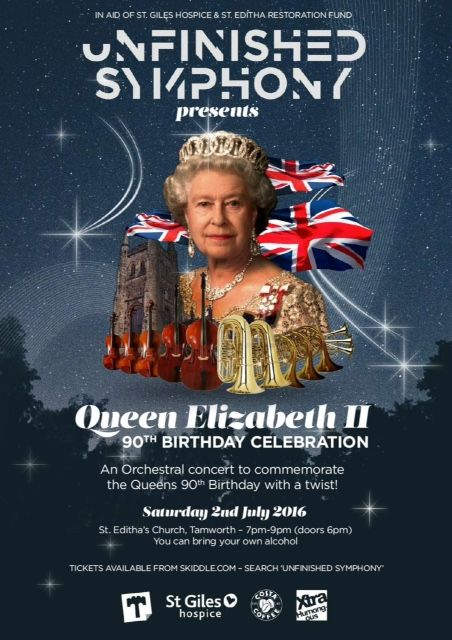 Queen's 90th Birthday Party poster