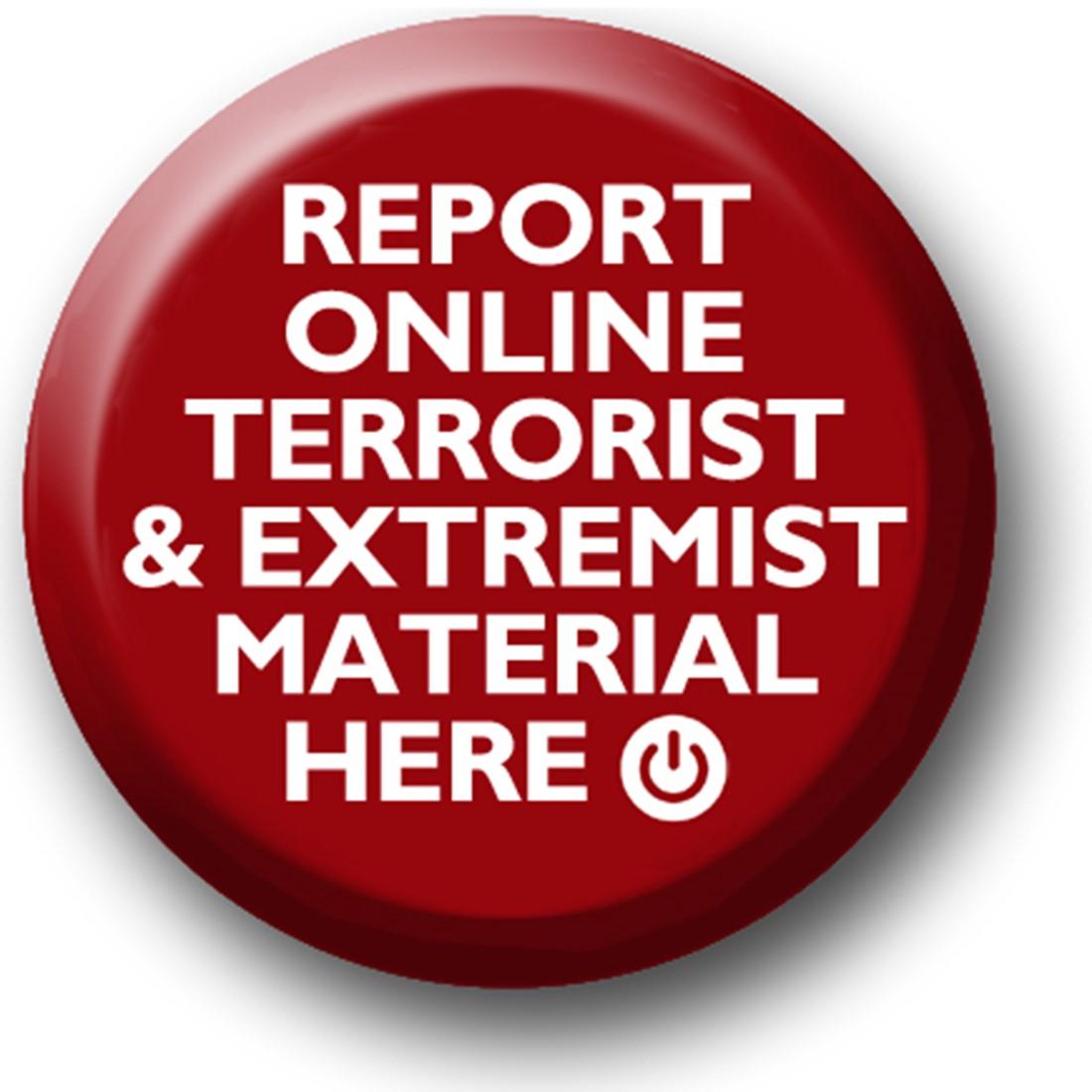Report Online Terrorism button