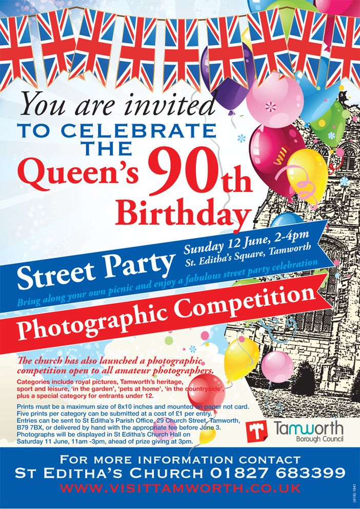 Queen's 90th Birthday Street Party poster