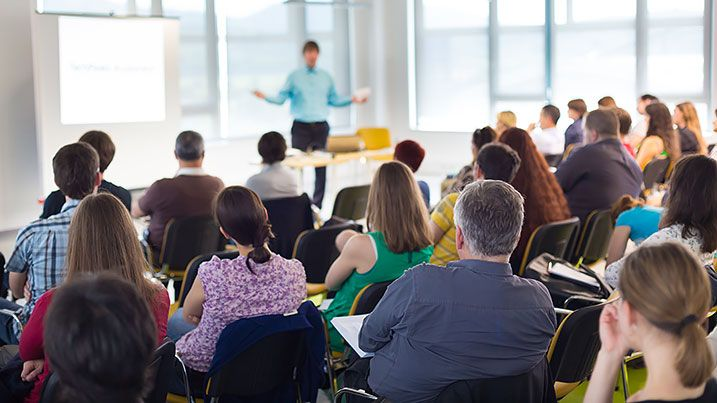 Photo of a classroom training session