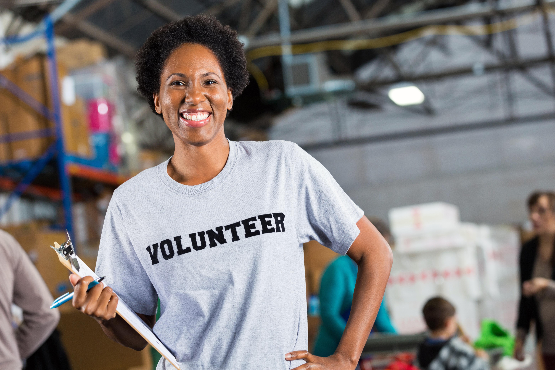 Lady Volunteering