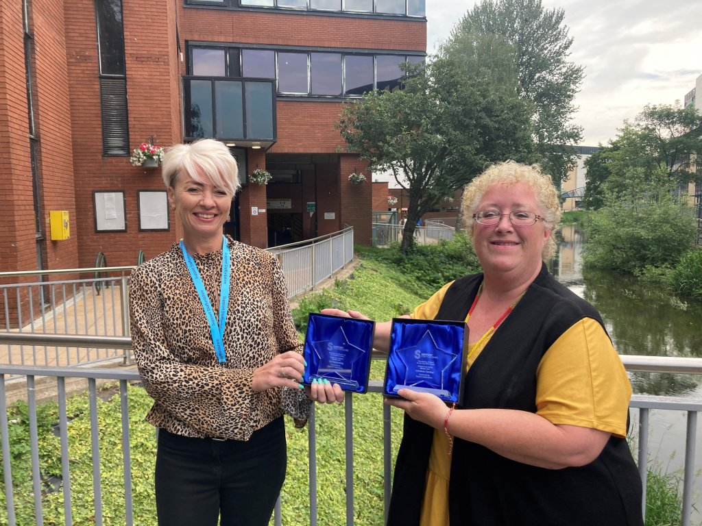 <strong>2021 WINNER of theStafford District Business Contribution to Communities Award and Volunteering Support for the Over 65's Award</strong>Sponsored by Support Staffordshire and presented by Lisa Carson, Fundraising and Development Manager.