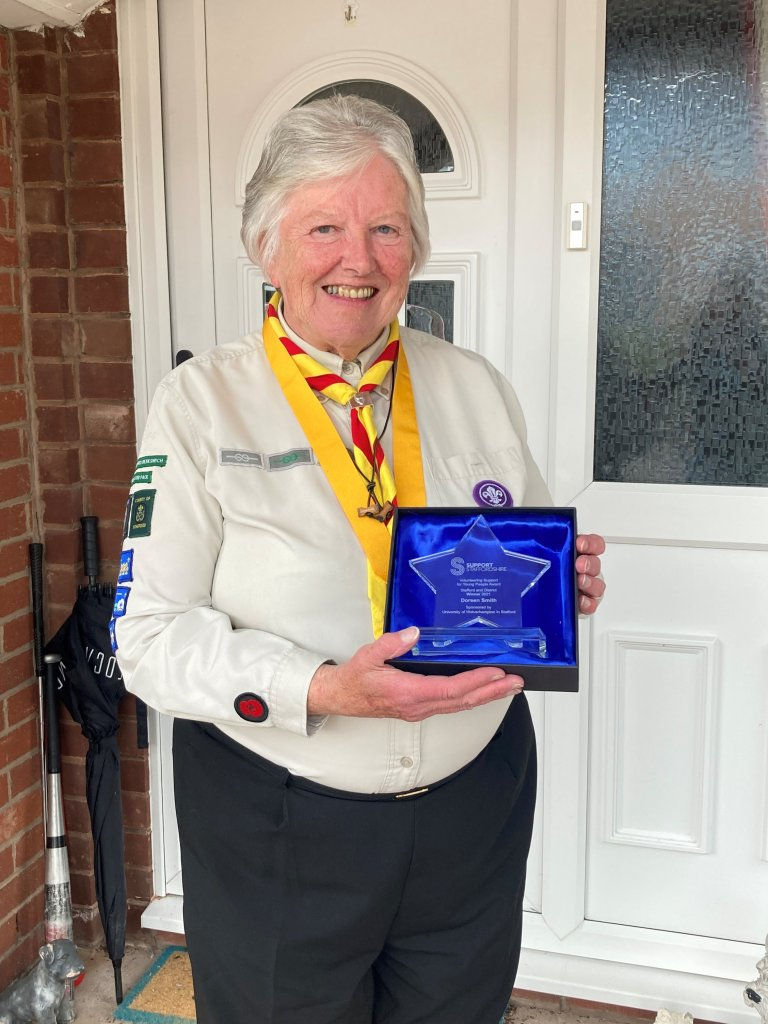<strong>2021 WINNER of the Stafford and DistrictVolunteering Support for Young People Award </strong>sponsored by the University of Wolverhampton in Stafford.