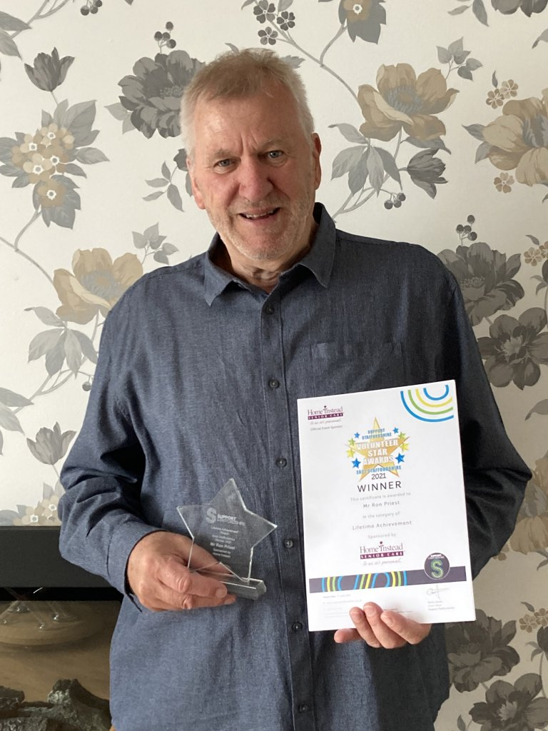 <strong>2021 WINNER of the East Staffordshire Lifetime AchievementAward </strong>sponsored by HomeInstead Burton.