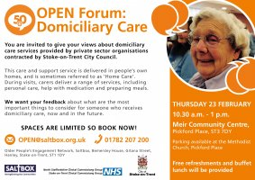 OPEN Forum Stoke Over-50s Domiciliary Care
