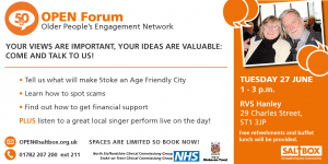Stoke OPEN Forum 27 June