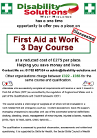 First Aid at Work 3 Day Training Course