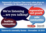 Poster for Tamworth Listens event